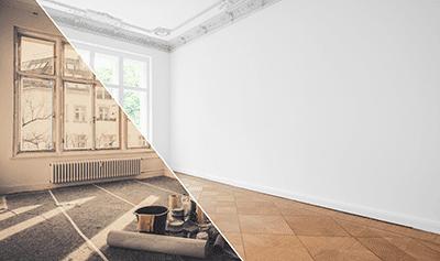 Hausrenovierung vorher und nachher